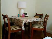 Dining chairs and free expandable table