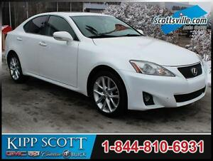 2012 Lexus IS 250 AWD, Heated Leather, Sunroof, HID Headlights