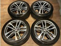 19'' GENUINE AUDI A6 S LINE C8 C7 ALLOY WHEELS TYRES ALLOYS 4K0601025H 5X112