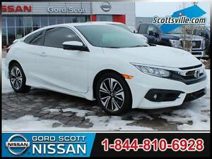 2016 Honda Civic EX-T, 1 Owner, Very Low KM, Turbo, Clean!