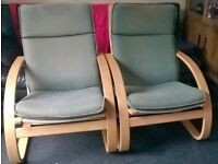 Ikea Poang chairs as new x2