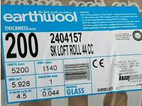 knauf Earthwool loft insulation 200mm