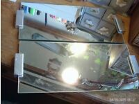 2 matching mirrors 48x21cm each