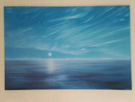 """Original sea scape oil painting on canvas 24""""x36"""""""