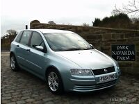 Fiat Stilo Active In Blue, 2004 54 reg, Only One former Owner, Last Owner From 2006