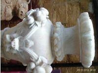 solid marble birdbath with damage - very heavy
