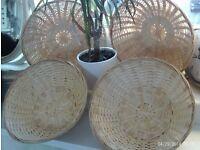 NEW 4 storage baskets 10 inch diameter each