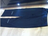 RONHILL black training trousers size 10