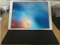 iPad Pro 12.9 - Newest Model - 4G & WiFi - 64GB - Apple Keyboard & Official Leather Sleeve