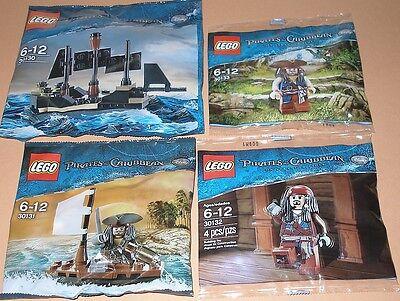 4x Lego Fluch der Karibik! Black Pearl und 3x Jack Sparrow mit Zubehör und Boot ()