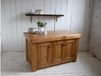 Stunning reclaimed oak and pine solid island
