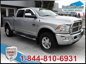 2012 Ram 3500 Laramie Longhorn Crew, Leather, DVD, Nav, Sunroof