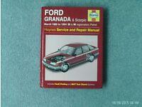 Car service manual - Ford Granada and Scorpio - 1985-1994