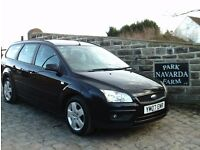 Ford Focus Style Estate In Black, 2007 07 reg,Service History, Only One Former Owner