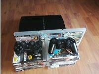 PlayStation 3 PS3 whit 21 games and 2 controllers. Good condition. Could deliver in Edinburgh.