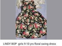 Stunning lindy bop swing dress 9-10years