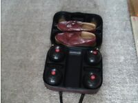 4 bowling wood, used. Plus case in good condition. Plus size 11 bowling shoes very good condition.
