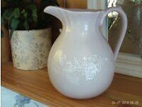 NEW elegant pink serving jug 21 x 21 cm