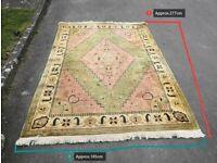 Vintage Oriental Style Design Rug Carpet with Tassels 277cm x 185cm(Best Offer)
