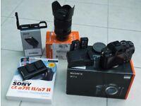 Sony A7rii Digital DSLR Full Frame Camera, FE24-240 Lens and extras