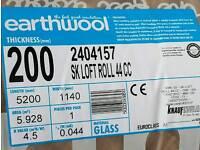 Knauf Earthwool loft insulation x8