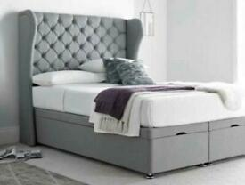 QUEEN HINA BED DOUBLE/KING SIZE WITH/WITH OUT ORTHOPAEDIC MATTRESS DIFFERENT FABRIC AND COLOURS