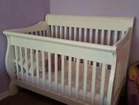 4 in 1 convertible crib. solid wood