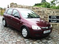 Vauxhall Corsa Life Twinport In Red. 2005 05 reg With Service History
