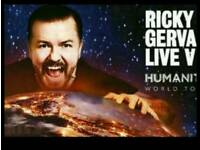 **PRICE DROP *** 4 tickets for Ricky Gerva for Dublin on saturday night