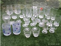 set of 28 assorted glasses