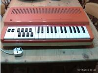 Vintage 1970s Antonelli golden organ - electronic keyboard - made in Italy - good working order.