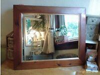 wooden mirror with gold trim 71 x 56 cm