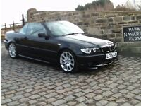 BMW 320 Ci Sport Convertible In Black, 2005 05 reg,Service History, Only One Former Owner