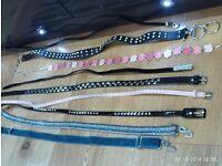 set of 9 stylish belts , approx size 10