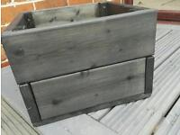 Black wooden planter (all sizes made)
