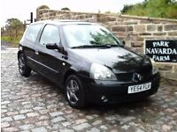 Renault Clio Extreme 3 In Black, 2004 54 reg, New Clutch 4th October 2016