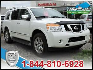 2014 Nissan Armada Platinum, Leather, Sunroof, DVD, Navigation