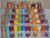 JOB LOT Handmade Scented Candles - Over 1000 Pillar Round, Squares, Hexagonal, Jars, Containers Wax