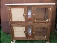 Hand Made Double Rabbit / Guinea Pig Hutch