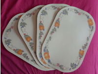 Set Of Four Reversible Place Mats
