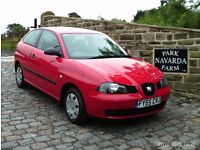 Seat Ibiza Reference In Red, 2005 55reg, Genuine Miles, Service History To 32k Miles