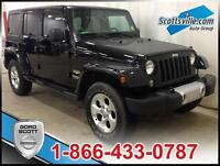 2014 JEEP WRANGLER UNLIMITED SAHARA; REMOVABLE ROOF, PWR OPTIONS