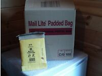 Part box of padded envelopes (70) Mail Lite padded bags - C/0 149mm x 222mm