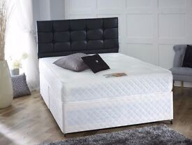 = KING SIZE BED FOR SALE = BASE WITH ORTHOPEDIC MATTRESS - BRAND NEW SAME DAY DELIVERY ( CALL NOW )