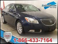 2011 BUICK REGAL CXL;FWD,HEATED LEATHER,BLUETOOTH,KEYLESS ENTRY