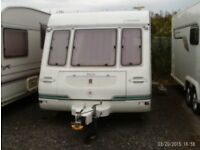 1995 Compass Connoisseur 2 berth caravan in VGC with lots of extras