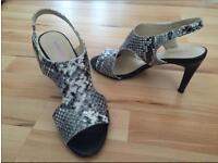 Leather high heels shoes - size 6 (UK) / 39 (FR) - 9cm heel