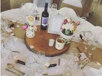 Wedding Hessian table runners