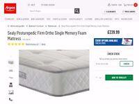 Single mattress posturepedic Firm ORTHOPEDIC