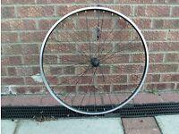 Hybrid bike 700c black front wheel, brand new unused